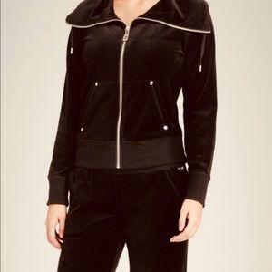 Michael Kors velvet jacket brown velour stretch